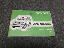 1985 Toyota Land Cruiser Original Owners Manual Book FJ70 BJ70 FJ73 FJ75 HJ75