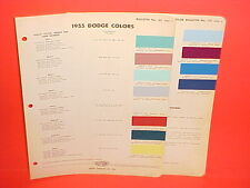 1955 DODGE CAR CORONET LANCER CUSTOM ROYAL CONVERTIBLE SIERRA WAGON PAINT CHIPS