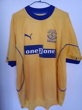 Maillot Everton  Puma  Away 2000 / 2001 Taille L 42/44