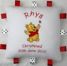 Baby Winnie the Pooh Cushion, Super Soft Taggy Gift, Christmas Gift PERSONALISED
