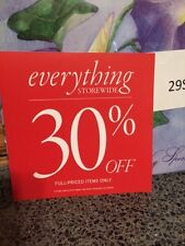 """Discount signs for retail store 30% off  8"""" x 8"""" Square shape USED"""