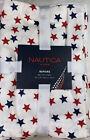 "Nautica Home Patriotic Star Napkins 100% Cotton 20"" x 20"" Red,White/Blue 8 Pack"