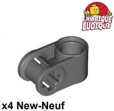 Lego technic - 4x Axe Axle connector perpendicular gris f/dark b.gray 6536 NEUF