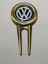VW Volkswagen golf divot tool & magnetic golf ball marker metal NEW