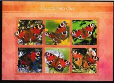 Peacock Butterflies souvenir sheet mnh insects flowers