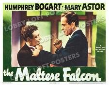 THE MALTESE FALCON LOBBY SCENE CARD # 7 POSTER 1941 HUMPHREY BOGART PETER LORRE