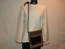 DRIES VAN NOTEN Brown Plaid Canvas/Leather Knot Crossbody, Messenger Bag (137)