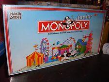 JUEGO MONOPOLY JUNIOR - MB - PARKER AÑO 92 - PRECINTADO!!!