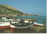 CARTOLINA SICILIA SICILY POSTCARD SFERRACAVALLO BARCHE E MARE SHIP SEA