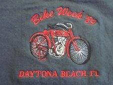 VTG 80s Bike Week '89 Daytona Beach FL Biker Shirt HD Motorcycle not 3D 70s 90s