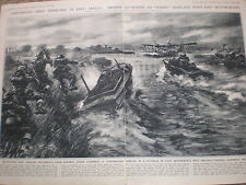 Amphibious army Exercises in East Anglia Bryan De Grineau 1941 old print
