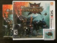 Monster Hunter Generations (Nintendo 3DS, 2015) Complete CIB Video Game Capcom