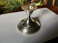 Candeliere argento 925 placcato porta candela candelabro 567FI complessivi 141gr