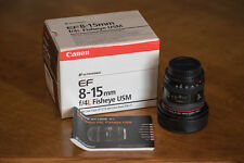 Canon EF 8-15mm f/4 L USM Lens perfect condition w/ all original accessories