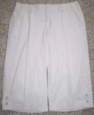 "Dockers Capri Pants 14 Beige Dress Cotton Fourteen Solid Women's Woman 35"" x 18"""