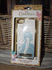 Disney Cinderella Live Action iphone 5 Hard Shell Case White/Gold/Blue Glitter