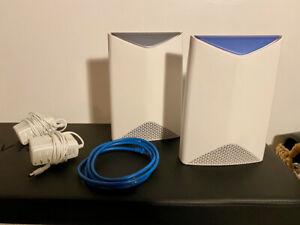 NETGEAR SRK60100NAS Orbi Pro AC3000 Tri Band Whole Home Wi-Fi System - 2 pack