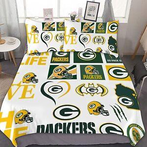 Green Bay Packers 3PCS Bedding Sets Comforter Cover Pillowcase Quilt/Duvet Cover