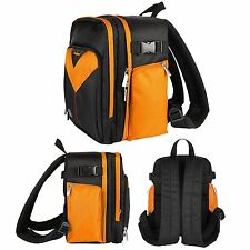 Orange DSLR Camera Tablet Backpack Bag for Canon EOS Rebel T5 & T5i 700D 5D Mark