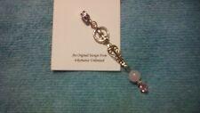 GODDESS PENDANT Rose Quartz & Swarovski Crystal Bead Ornament Wicca Tribal Charm