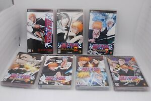 Sony PSP Bleach Heat The Soul 1-7 7Game set Japan Import PlayStation Portable