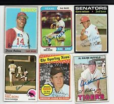 Dave Nelson signed 1970 Topps #112 Indians Senators Rangers Brewers