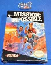 MISSION IMPOSSIBLE Nintendo NES CIB Complete Cart: Cleaned/ Tested