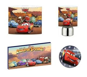 DISNEY CARS mcqueen Light Shade ,Touch Lamp, Wall Art, Wall Clock or Bundle