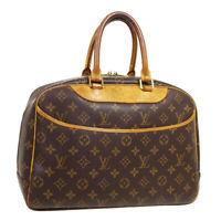 LOUIS VUITTON DEAUVILLE BUSINESS HAND BAG PURSE MONOGRAM VINTAGE M47270 A54109