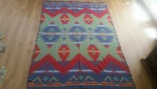 Vintage Multi-Colored Cotton RALPH-LAUREN Southwest Indian Blanket Throw 92x66