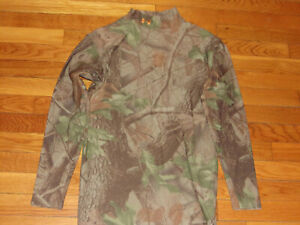UNDER ARMOUR LONG SLEEVE CAMO MOCK COMPRESSION JERSEY MENS LARGE EXCELLENT