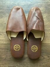 L.B Evans 1804 Leather Slippers Brown 12M Soft Sole Leather Slip On