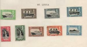 ST.LUCIA/SAMOA: 1932 Examples - Ex-Old Time Collection - 2 Sides Page (38388)