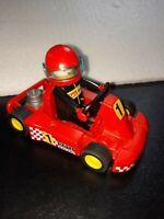 Playmobil 1998 Geobra Red Go Kart And Driver, VGC