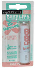 3 x Maybelline Baby Lips Lip Balm   Dr Rescue   Just Peachy   12hr Moisture