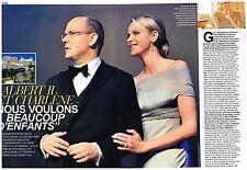 Coupure de presse Clipping 2011 (4 pages) Charlène Wittstock et Albert II
