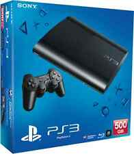 BRAND NEW Sony PS3 Black 500 GB Super Slim Console: 12 Month Warranty