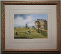 Original Watercolour Painting THE ST ANDREWS GOLF CLUB, SCOTLAND by GORDON LEES