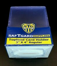 Trading Card Sleeves Hard Plastic Clear Case Holder 25 Baseball Cards Toploader
