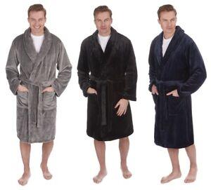 Pierre Roche Mens Supersoft Plush Fleece Dressing Gown