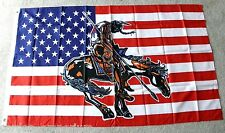 UNITED STATES AMERICA END OF THE TRAIL EAGLE USA POLYESTER FLAG 3 X 5 FEET
