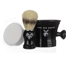 Van Der Hagen Shave Set With Soap (3.5oz), Boar Brush, Stand (Damaged), And Bowl