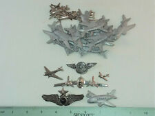 Pewter, 13 Brass & 2 Metal 30 Airplanes For Jewelry & Crafting- 15
