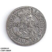 3 Kreuzer 1648 Tirol Ferdinand Karl - Silber Österreich Austria RDR