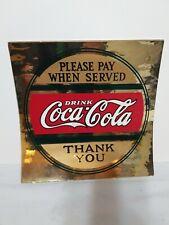 2 RARE 1920s Vintage COCA COLA DECAL / STICKER COLLECTIBLES