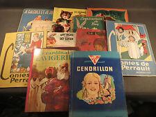 Lote 11 antiguos libros pour enfants Cenicienta Perrault Minouchette Bug´s Bunny