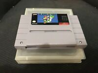 Super Mario World (Nintendo SNES, 1992) Cartridge + Plastic Case Super Nintendo