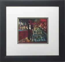 "LeRoy Neiman ""Key Club Bar, Rush Street"" Newly CUSTOM FRAMED Art Print - Chicago"