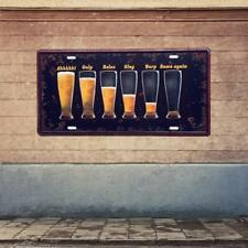 Retro Metal Car Plate Tin Sign Plaque Beer Glasses Pub Man Cave Picture