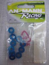 Ansmann Racing Aluminium Countersunk 4mm Blue Washers (Qty 10) 203000128